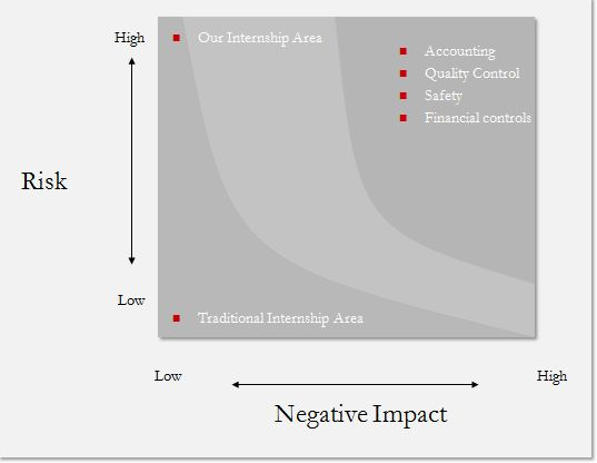 Risk impact analysis for internships