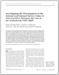 Investigating the Development of the Internal and External Service Tasks of Non-executive Directors