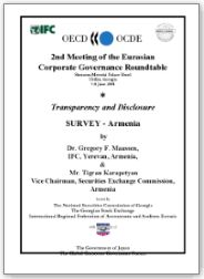 OECD / IFC Armenia Corporate Governance Country Analysis